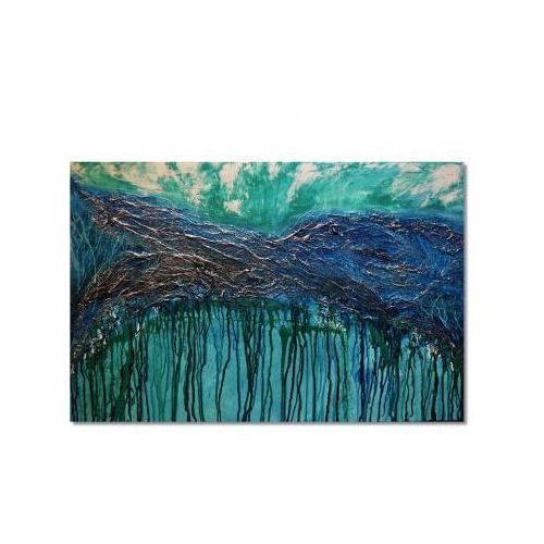 Głębia 3, abstrakcja, nowoczesny obraz ręcznie malowany (obraz)