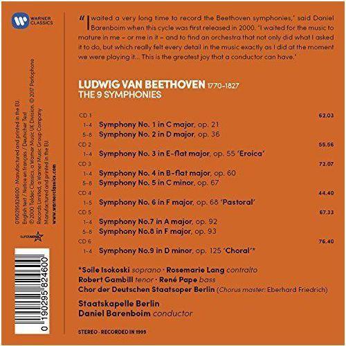Beethoven: the 9 symphonies - barenboim, daniel, staatskapelle berlin (płyta cd) marki Warner music