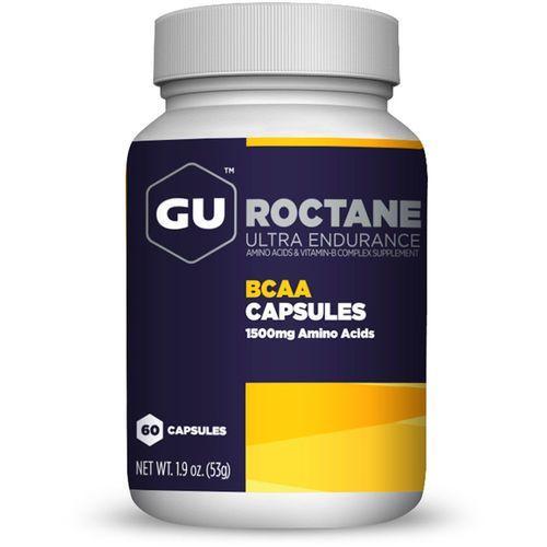 roctane bcaa żywność dla sportowców 60 kapsułek z aminokwasami biały/czarny 2018 suplementy marki Gu energy