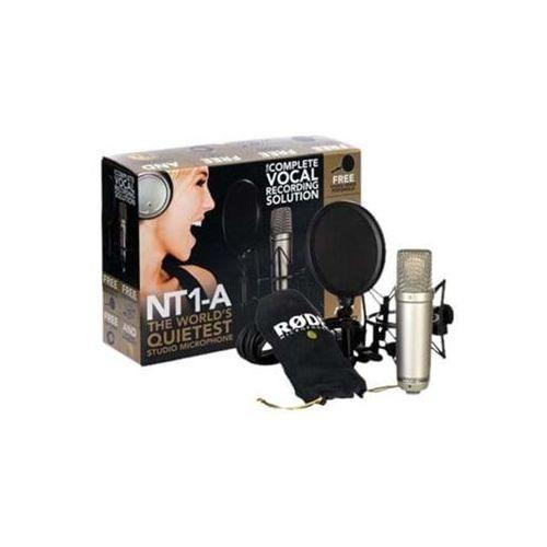 """Rode nt1-a kit - mikrofon pojemnościowy zestaw do nagrań wokalnych -5% na pierwsze zakupy z kodem """"start""""!"""