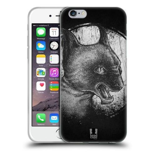 Head case Etui silikonowe na telefon - cats of goth black and grey