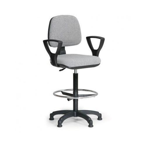 Podwyższone krzesło MILANO z podłokietnikami - szare
