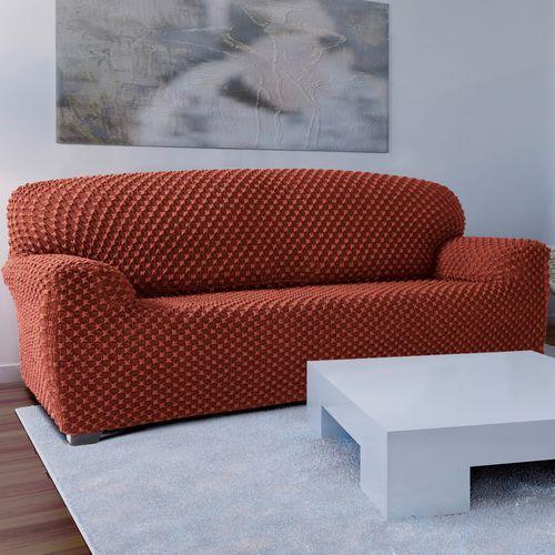 4home Forbyt pokrowiec multielastyczny na kanapę contra teracotta, 140 - 180 cm