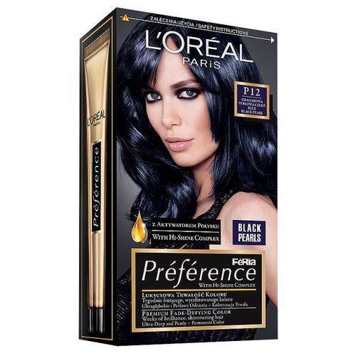 Farba do włosów Feria Preference - P12 Granatowa Perłowa Czerń, L'Oréal