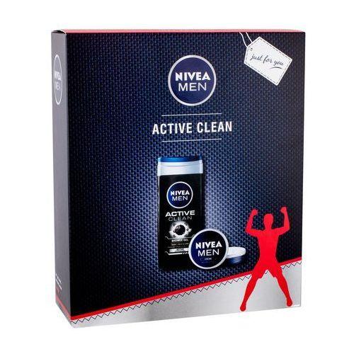 Nivea Men Active Clean zestaw 250 ml dla mężczyzn