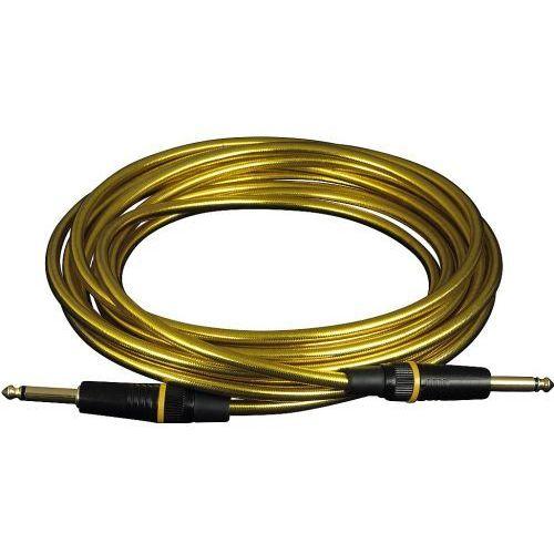 kabel instrumentalny - straight ts (6.3 mm / 1/4), gold - 3 m / 9.8 ft. marki Rockcable