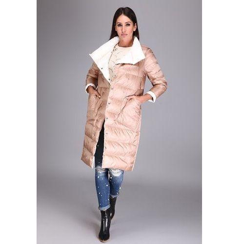 Dwustronny płaszcz - Camel