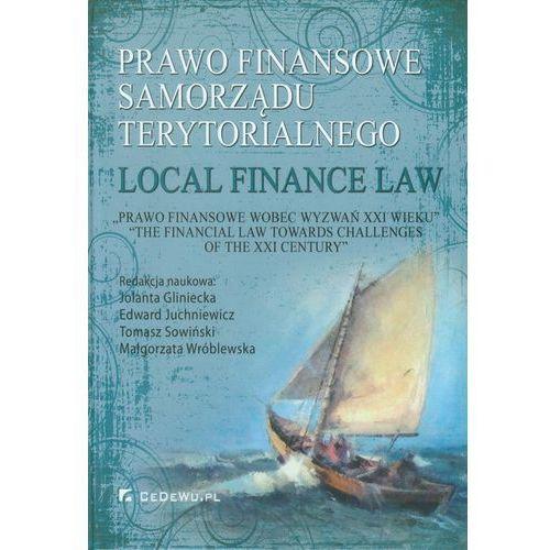 Prawo finansowe samorządu terytorialnego/ Local fuinance law (9788375565690)