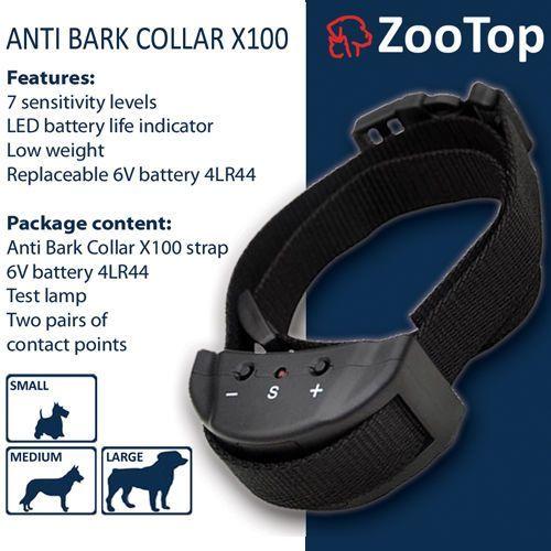 x100 elektryczna obroża antyszczekowa dla psa marki Zootop