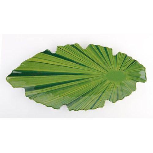 Półmisek z melaminy w kształcie liścia 520x250 mm, zielony | , natural collection marki Aps