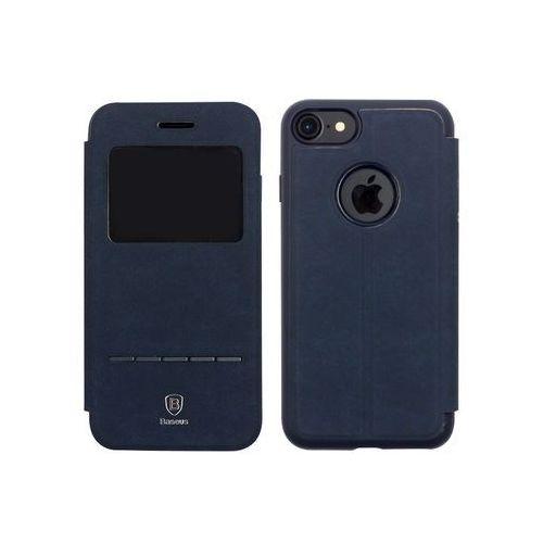 Apple iphone 7 - etui na telefon simple series leather case - niebieskie marki Baseus