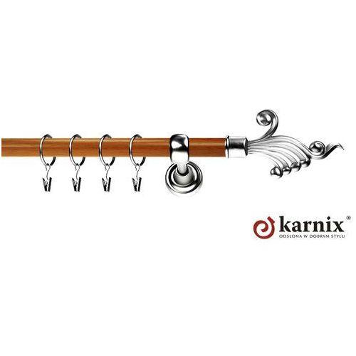 Karnisz Metalowy Prestige pojedynczy 25mm Fantazja INOX - calvados - produkt z kategorii- karnisze