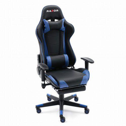 Fotel gamingowy pro gamer™ blue z podnóżkiem marki Razor