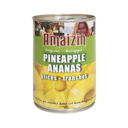 Ananas plastry 400g bio marki Amaizin
