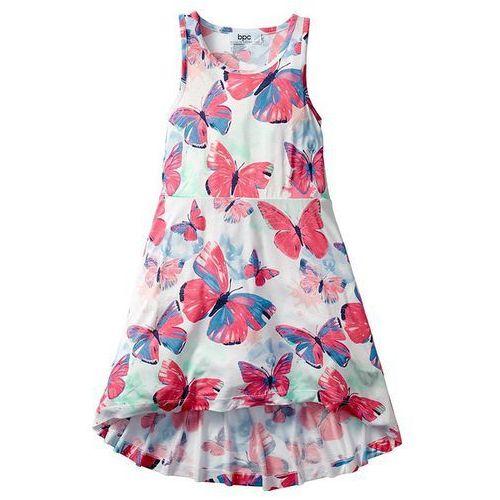 Sukienka bonprix jasnoróżowo-niebieski mentolowy z nadrukiem (sukienka dziecięca)