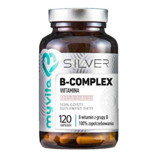 Kapsułki B-complex 8 witamin z grupy B 120 kapsułek MyVita Silver Pure