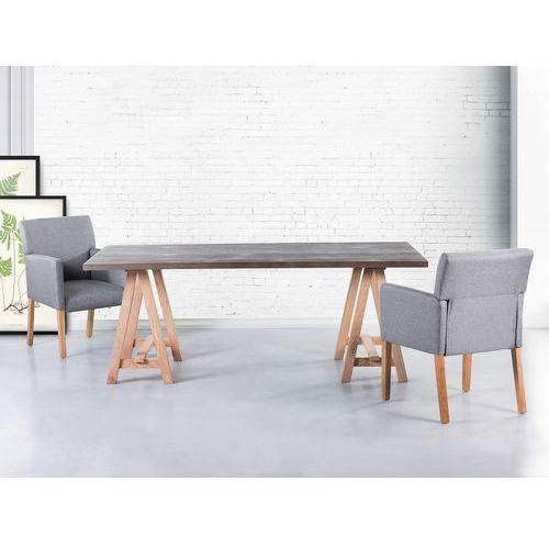 Stół szary - 200x100 cm - kuchenny - do jadalni - moore marki Beliani