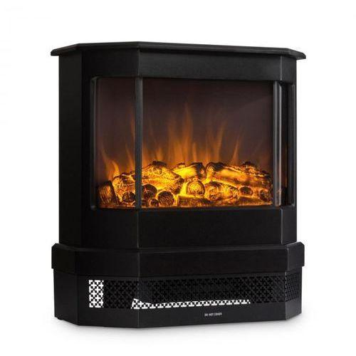 Klarstein Castillo kominek elektryczny halogenowa imitacja płomieni czarny