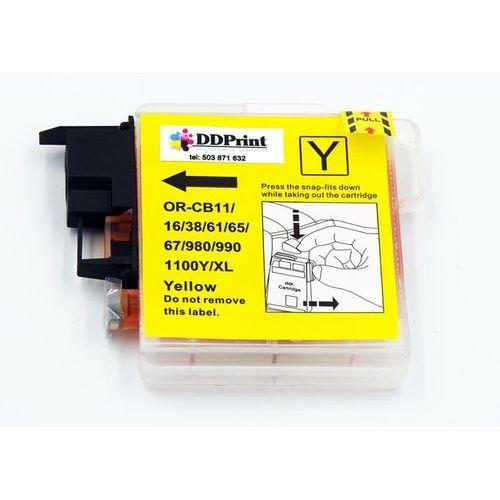 LC1100Y / LC980Y Tusz żółty do drukarek Brother dcp-145 / 165 / 195 / 365 / Nowy zamiennik / 20ml., kolor Yellow