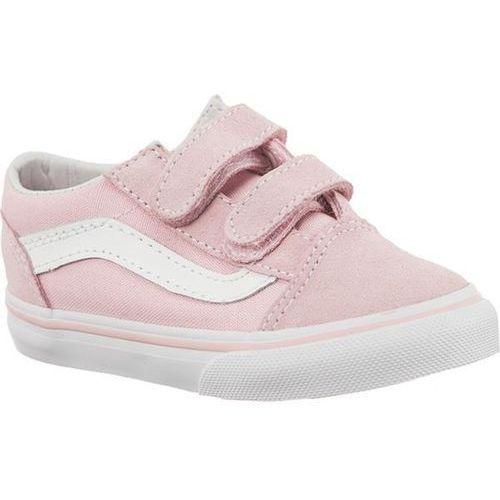 Vans td old skool v suede canvas q7k chalk pink true white - buty sneakersy
