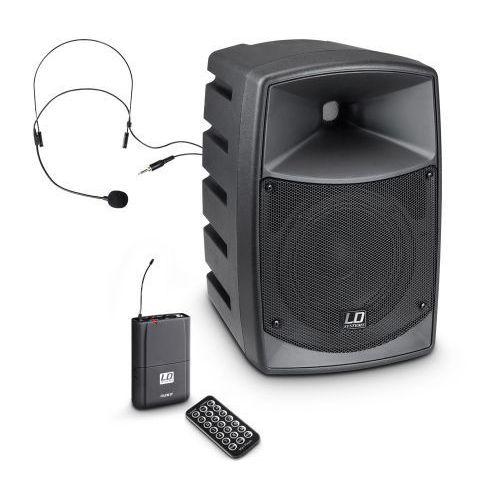 roadbuddy 6 hs (863 - 865 mhz ) przenośny zestaw nagłośnieniowy z mikrofonem bezprzewodowym nagłownym marki Ld systems