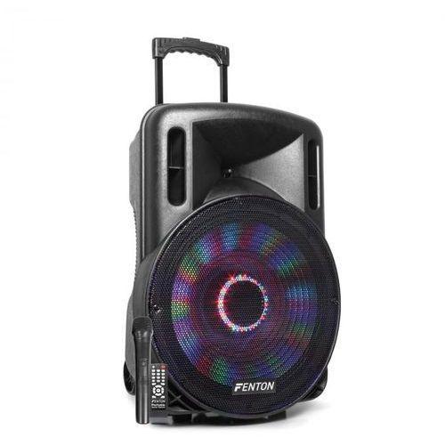 "FT15LED kolumna aktywna 15"" 800W BT/USB/SD/AUX-In LED mikrofon trolley"