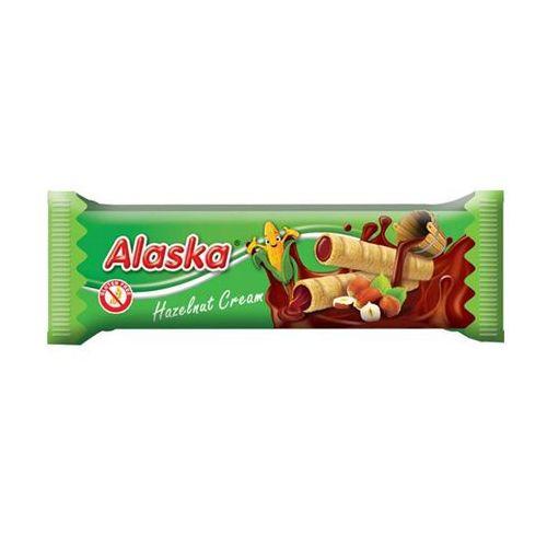 Alaska foods Rurki kukurydziane z kremem orzechowym bezglutenowe 18g - (8588005524100)