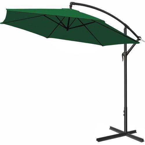 Duży parasol ogrodowy 350 wysięgnik boczny zielony marki Wideshop