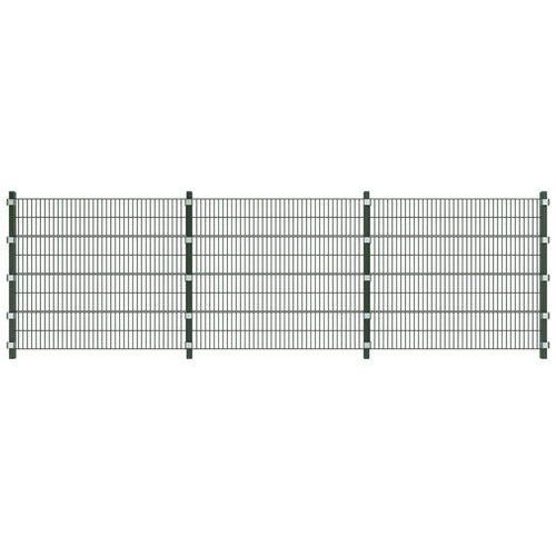 Vidaxl  ogrodzenie panelowe 6 m z słupkami 1,6 wysokości