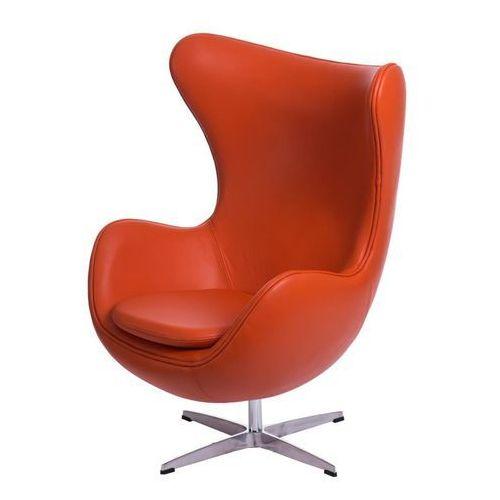 Fotel jajo inspirowany egg skóra - pomarańczowy marki D2.design
