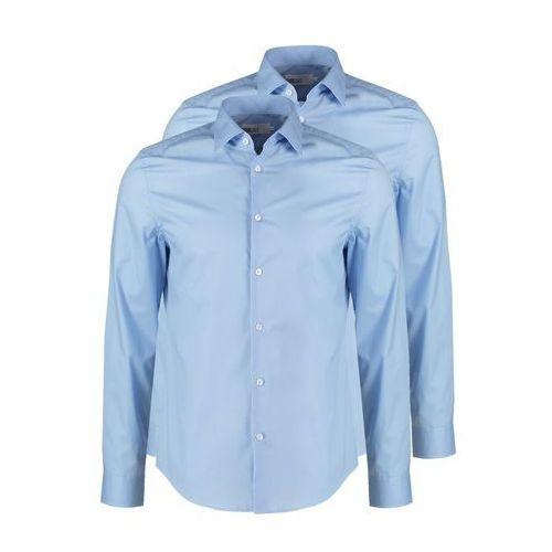 Pier One 2 PACK Koszula biznesowa light blue, rozmiar od S do XXL, niebieski