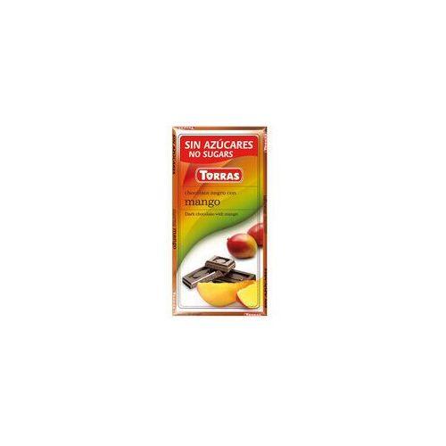 Czekolada gorzka z mango, bez cukru, bezglutenowa - 75g , marki Torras