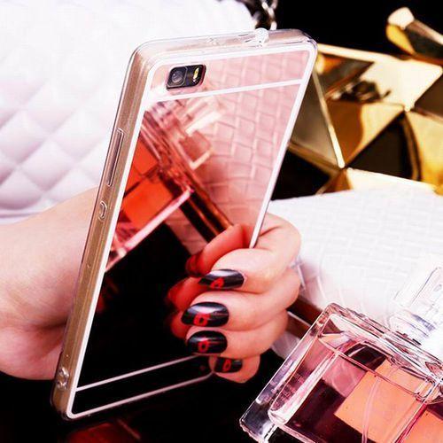Slim Mirror Case Różowy   Etui dla Huawei P8 Lite - Różowy, kolor Różowy