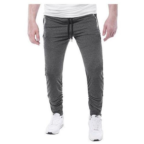 Spodnie męskie dresowe joggery atc1700 - antracytowe, dresowe