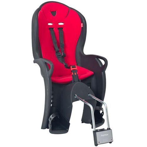 Fotelik rowerowy Hamax KISS czarny, czerwona wyściółka, kolor czerwony