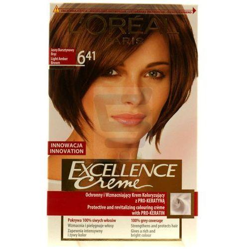 Excellence Creme farba do włosów 6.41 Light Amber Brown Jasny bursztynowy brąz - L'Oreal Paris, 3600521651513