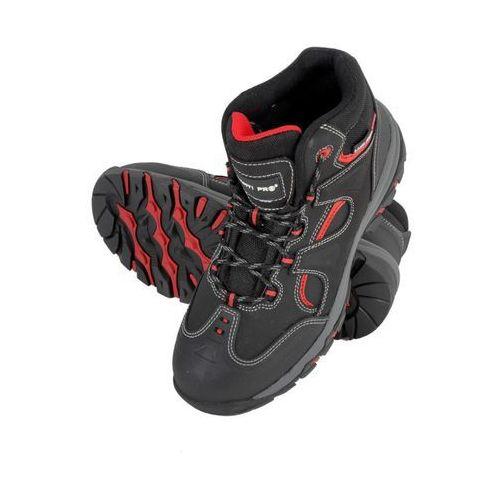 LAHTI PRO L3011745 Trzewiki nubukowe czarno-czerwone, S3 SRA, rozmiar 45 (5903755130334)