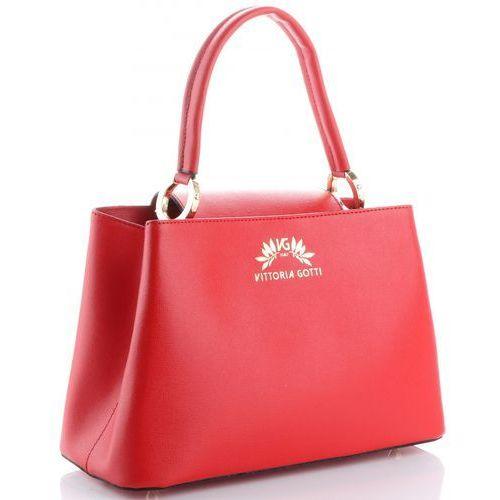 e2496f5c05ab0 Torebki skórzane firmowy elegancki kuferek made in italy czerwone (kolory)  marki Vittoria gotti 275,00 zł niewielki, ale pojemny, a przeważnie  szczególnie ...
