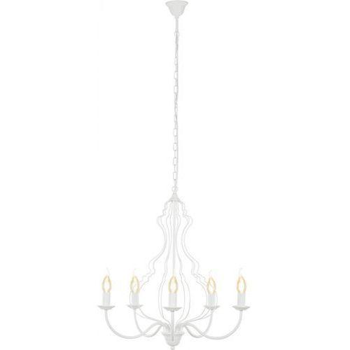 Lampa wisząca margaret 6330 zwis 5x60w e14 biała marki Nowodvorski
