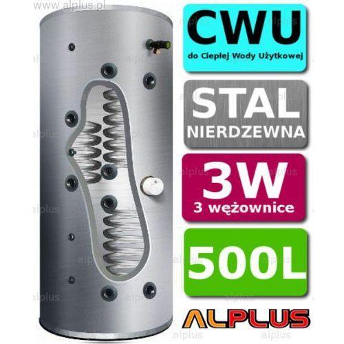 Bojler JOULE CYCLONE 500L 3-wężownice 3W nierdzewka wymiennik podgrzewacz CWU Wysyłka GRATIS!, TCPMV3-0500LFC