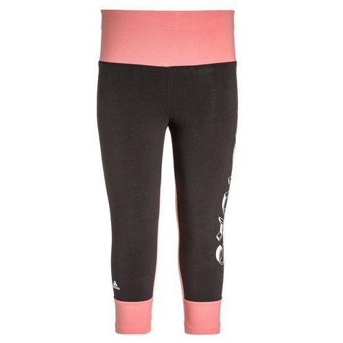 adidas Performance ATHLETICS Legginsy utility black/ray pink - produkt z kategorii- legginsy dla dzieci