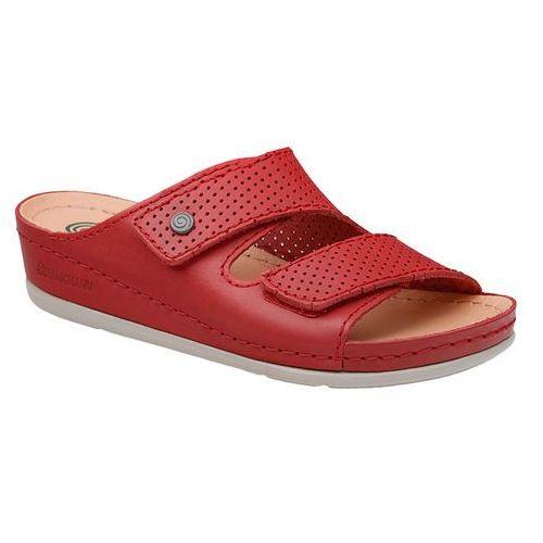 Klapki Dr Brinkmann 700568-4 Czerowne Rot Naturform Fussbett - Czerwony, kolor czerwony