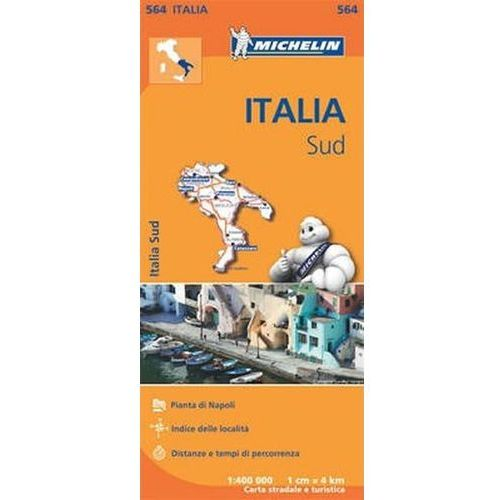 Italia Map Sud - 1:400 000 (564 Michelin) neuveden (9782067184053)