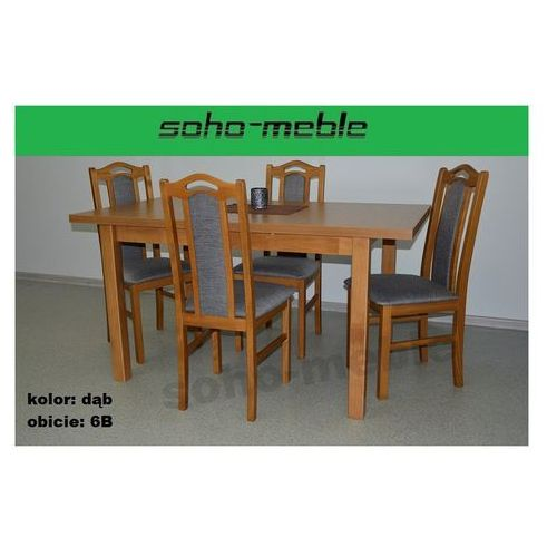 ZESTAW LESZEK 4 KRZESŁA B 9 + STÓŁ M 5 80x120/150 CM, produkt marki SOHO-meble