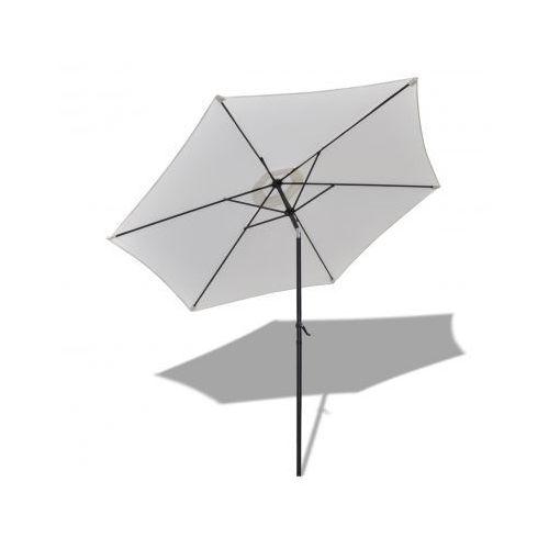 Parasol przeciwsłoneczny okrągły 3 m, biały, produkt marki vidaXL