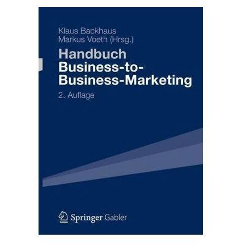 Handbuch Business-to-Business-Marketing Backhaus, Klaus (9783834946805)