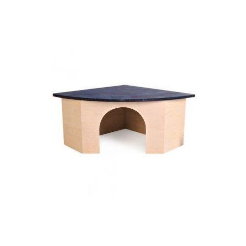 Domek drewniany dla gryzoni Rozmiar:38 × 15 × 27/27 cm - produkt dostępny w NaszeZoo.pl - Sklep dla Zwierzaka!