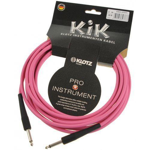 Klotz kik 6.0 pp pi kabel instrumentalny 6m, różowy