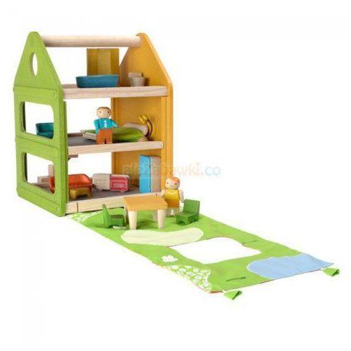 Domek dla lalek z matą do zabawy, Plan Toys PLTO-7600