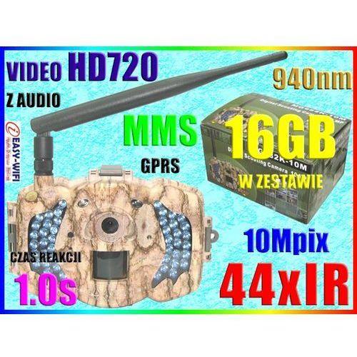 KAMERA MYŚLIWSKA 44IR APARAT 10M VIDEO HD720 +16GB (kamera monitoringowa)